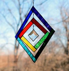 Colorful 3D Stained Glass Spinner от LAGlass на Etsy