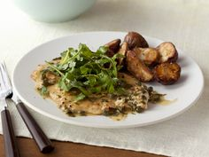 Chicken Piccata Recipe : Food Network Kitchen : Food Network - FoodNetwork.com Yummy potatoes! #SchoolYourChicken
