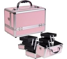 Prevents Lost Makeup - College Girl Cosmetic Case - Pink - Great Dorm Organizer