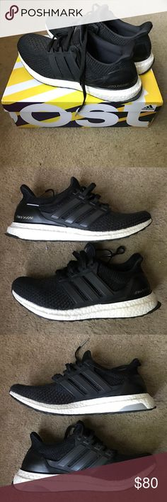 37b7699fcda68 Shop Men s adidas Black White size 9 Sneakers at a discounted price at  Poshmark. Description  Adidas Ultra Boost - Color  Core Black - Size  Sold  by amraia.