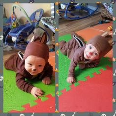 Chip and Dale - Halloween costumes I made for my twins