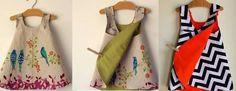 Resultado de imagem para molde vestido transpassado atras infantil