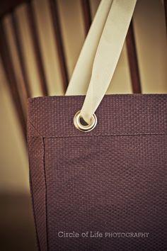 Eggplant placemat purse