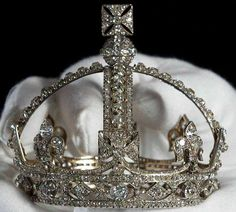 The Queen Victoria's Small Diamond Crown  Made for the Queen in 1870 for the reason that the Imperial State Crown was too heavy and was a hindrance to her wearing a veil in mourning for her husband's death