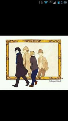 i love how john is turning back to look, while Sherlock just forges on.