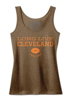 Long Live Cleveland Football Tank #Browns www.freshbrewedtees.com #football #cleveland Cleveland Browns Football, Cleveland Rocks, Go Browns, Long Live, Brownies, My Style, Tees, Women, Cake Brownies