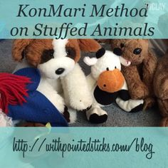#KonMariMethod on stuffed animals. #komono #decluttering