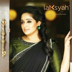 love the combo Saree Blouse Designs, Blouse Patterns, Saree Styles, Blouse Styles, Beautiful Saree, Beautiful Bride, South Indian Sarees, Simple Sarees, Casual Saree