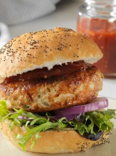 Chia Seed Chicken Burgers