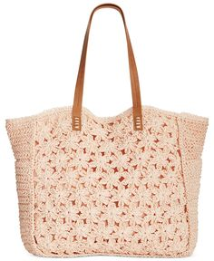 Straw Studios Flower Crochet Tote - Handbags & Accessories - Macy's