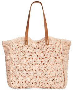 Straw Studios Flower Crochet Tote - Handbags & Accessories - Macy's