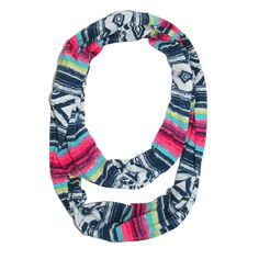 CTM® Womens Aztec Painted Stroke Print Infinity Loop Scarf. Lightweight and soft