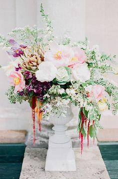 Spring peony floral arrangement