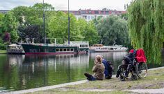 Quality of life is accessible to all (by Landwehrkanal in Berlin)