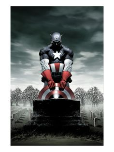 Captain America #4 Cover: Captain America Print by Steve Epting at Art.com
