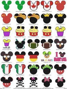 25 Mickey Inspired Disney Appliqué