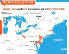 SickWeather, a website that attempts to crowdsource the health of cities around the world.