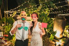Underwater / scuba diving photo booth props | Nico and Olive's Underwater Themed Wedding at North Border Bar + Grill