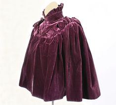 House of Rouff velvet cape, c.1890