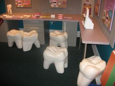 Waiting Room outside a Dental Office. Not sure if they are comfortable?