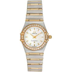 Omega Women's Vintage Omega Constellation 18K Yellow Gold, Stainless... (8915 QAR) ❤ liked on Polyvore featuring jewelry, watches, multi, 18k gold jewelry, diamond watches, omega watches, vintage diamond watches and 18k gold watches