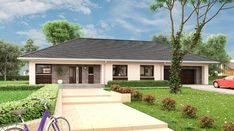 Berenika - murowana – ceramika - zdjęcie 1 4 Bedroom House Plans, Bungalow House Plans, Dream House Plans, Modern House Plans, Best Modern House Design, Design Your Dream House, Village House Design, Village Houses, Beautiful House Plans