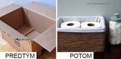 Premena krabice na praktický úložný box | DIY návod