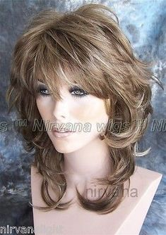 Details about Shoulder Length Flicked Layers Nirvana Angie Wig – Hair is art Haircuts For Long Hair, Long Hair Cuts, Choppy Layers For Long Hair, Long Shag Hairstyles, Easy Hairstyles, Medium Hair Styles, Curly Hair Styles, Hair Illustration, Great Hair