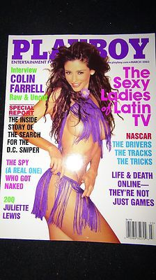 Playboy Magazine MARCH 2003 LADIES OF LATIN TV Cover COLIN FERRELL