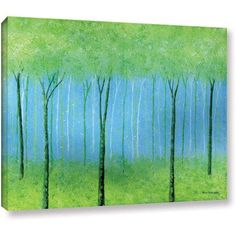 ArtWall Herb Dickinson Peaceful Place Gallery-wrapped Canvas, Size: 18 x 24, Green