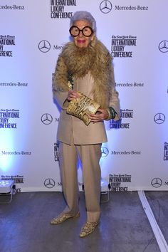 Iris Apfel Photos: The New York Times International Luxury Conference Speaker Dinner Presented By Mercedes-Benz