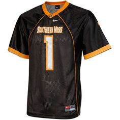 Youth Southern Miss Golden Eagles No. 1 Nike Black Replica Football Jersey 2867318c8