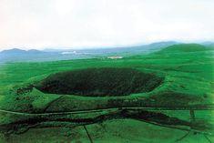 Sangumburi crater, jeju, south korea