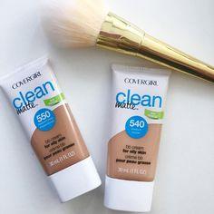 Covergirl Clean Matte BB Cream 540 Medium and Covergirl Clean Matte BB Cream 550 Medium/Deep