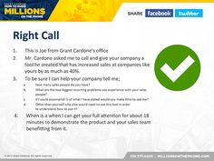 Millions on the Phone Webcast - Grant Cardone