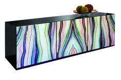 PLATINUM DÉCOR 330 S. The Vetro buffet has front doors with high resolution images printed on glass Glass Printing, Furniture Market, Inspiration Boards, Front Doors, High Point, Spotlight, Buffet, My Arts, Tapestry
