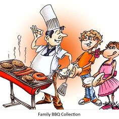 Family BBQ Collection Digi Stamp In Digital Images