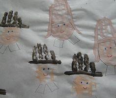 Preschool Crafts for Kids*: Thanksgiving Handprint Pilgrims Mural Craft