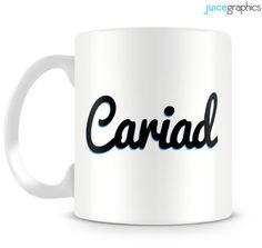 Cariad mug. Welsh language. Wales by JuiceGraphics on Etsy