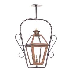 Grande Isle Outdoor Gas Ceiling Lantern In Aged Copper 7932-WP
