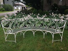 Romantic Wrought Iron French Garden Bench 1930-40