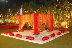 wedding mandap flower decorations - Google Search