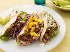 Slow-Cooker Pork Tacos recipe from Food Network Kitchen via Food Network