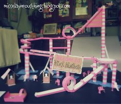 DIY Science Project: Marble Roller Coaster. LOVE this - fun while studying Roller Coasters!