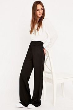 Urban Outfitters Full Flare Black Trousers