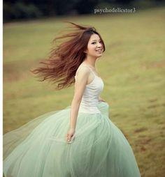 Princess 5 Layer Gauze Voile Tulle Tutu Skirt Bouffant Puffy P29.  45.00