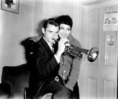 Chet and Liliane, in London, 1955