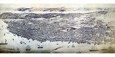 Panorama map of Halifax, Nova Scotia 1879