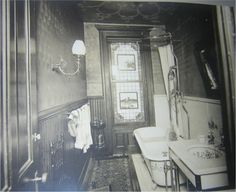 The upstairs bathroom of the Miller Mansion--Goodnight Eleanor--Story Board. Authentic Victorian bathroom, Interior Views, 1179 Dean St, Brooklyn N. Victorian Rooms, Victorian Bathroom, Victorian Interiors, Vintage Bathrooms, Victorian Decor, Vintage Interiors, Victorian Era, Victorian Houses, House Interiors