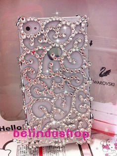 iphone 4 bling case,iphone 4s case,Hofgarten hollow iphone 5 case cover handmade